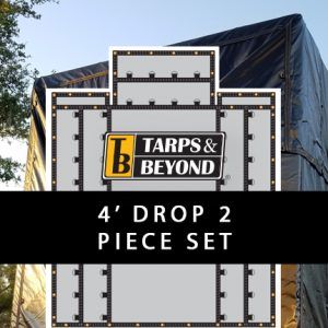 4' Drop Lumber Tarps - 2 piece set