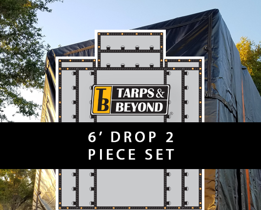 6' Drop Lumber Tarps - 2 piece set