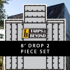 8' Drop Lumber Tarps - 2 piece set
