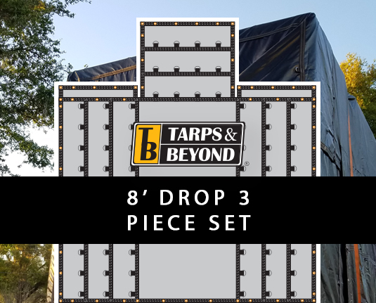 8' Drop Lumber Tarps - 3 piece set