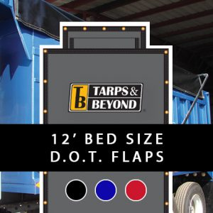 Asphalt tarp 12' bed with D.O.T. flaps.