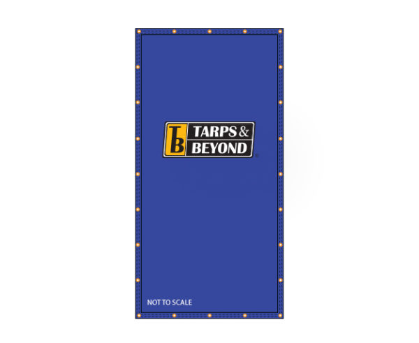 Blue poly tarp diagram for light duty applications in Miami, Florida.