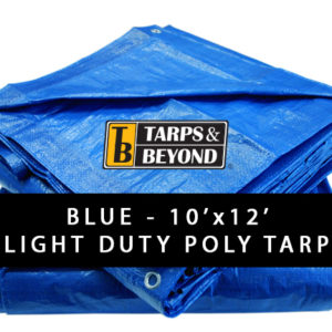 Blue 10' x 12' Poly Tarp in Florida and Miami.