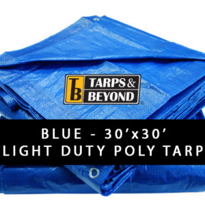 Blue 30' x 30' Poly Tarp in Florida and Miami.