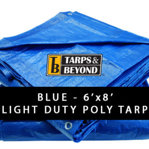 Blue 6' x 8' Poly Tarp in Florida and Miami.
