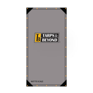 Silver poly tarp diagram for light duty applications in Miami, Florida.