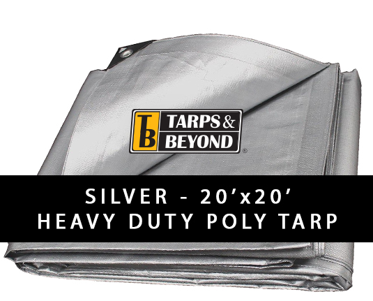 Sliver 20' x 20' Heavy-Duty Poly Tarp in Florida and Miami.