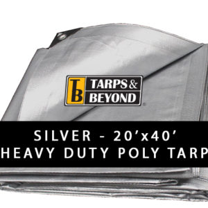 Sliver 20' x 40' Heavy-Duty Poly Tarp in Florida and Miami.