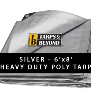 Sliver 6' x 8' Heavy-Duty Poly Tarp in Florida and Miami.