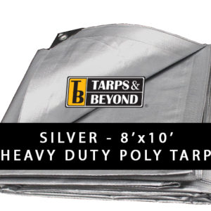 Sliver 8' x 10' Heavy-Duty Poly Tarp in Florida and Miami.