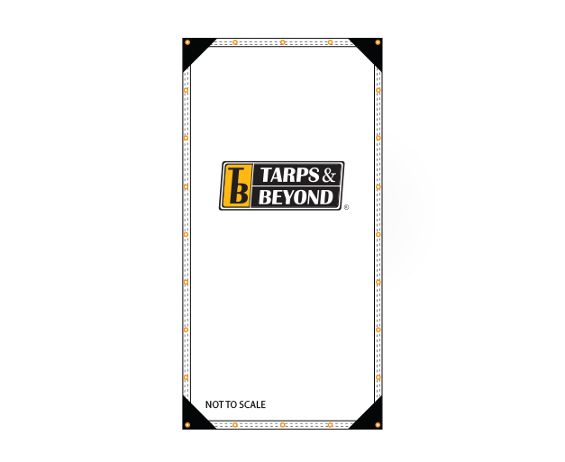 white 12 u0026 39  x 36 u0026 39  poly tarp  heavy